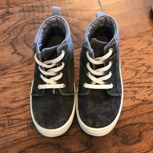 Other - Boys black denim high top shoes! Barely worn.